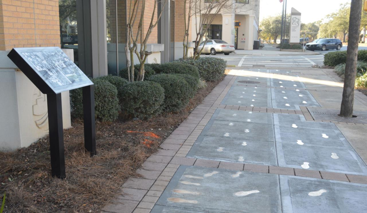 Historical Civil Rights Walk Footprints Project Completed
