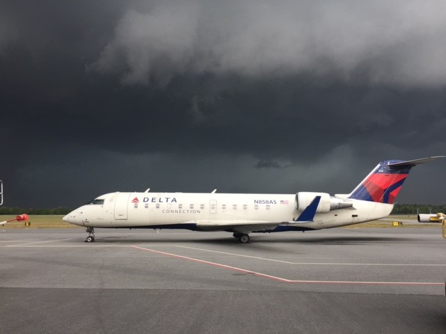 Delta during storm
