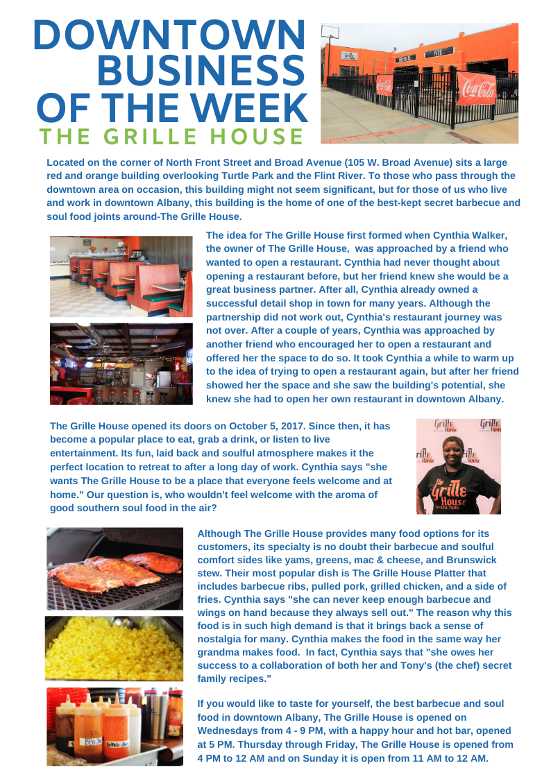 Downtown Business of the Week_The Grille House